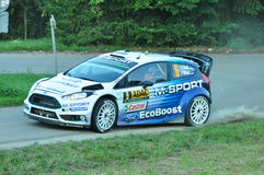 WRC Allemagne 2015 - Ott Tanak - chopes en grès Images libres de droits