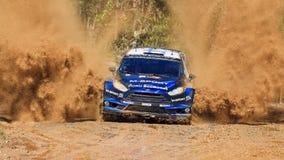 WRC błękita przodu brodu pluśnięcie Zdjęcia Stock