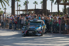 WRC-bil royaltyfria bilder