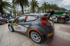 WRC Car From Rally RACC Salou, Spain. WRC car of the driver Robert Kubica and his co-driver Maciek Szczepaniak , race in the 51th Rally RACC Rally of Spain stock images