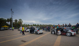 WRC Cars in Salou , Spain Royalty Free Stock Photos