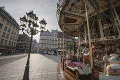 WRC Championship preparation in Strasbourg Royalty Free Stock Image