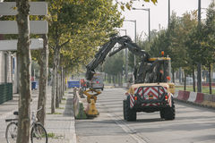 WRC Championship preparation in Strasbourg Stock Image