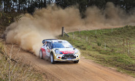 WRC Citroen Front Ground Stock Images