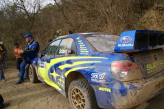 WRC CORONA RALLY MEXICO 2007 Royalty Free Stock Photo