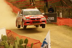 WRC Corona Rally Mexico 2010 Michel JOURDAIN. Rally Guanajuato Bicentenario Stock Photography