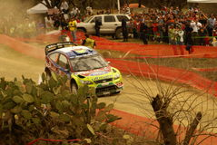 WRC Corona Rally Mexico 2010 Mikko Hirvonen. Rally Guanajuato Bicentenario Stock Images