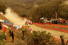 WRC Corona Rally Mexico 2010 Mikko Hirvonen Royalty Free Stock Photo