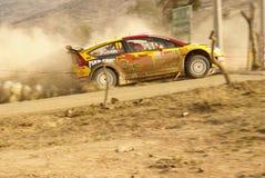 WRC Corona Rally Mexico 2010 Peter Solberg. Rally Guanajuato Bicentenario Stock Photos
