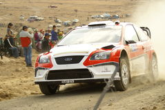 WRC Corona Rally Mexico. Leon Guanajuato stage 2 Driver Federico VILLAGRA SS Agua Zarca Royalty Free Stock Photo