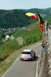 WRC Deutschland 2015 - Thierry Neuville u. Fans Stockfotografie