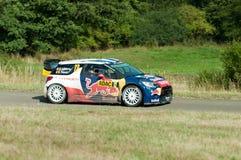 WRC Duitsland 2015 - Stephane Lefebvre - Panzerplatte Stock Afbeelding