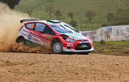 WRC Ford Red Low Point Royalty Free Stock Images