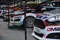 WRC Germany 2015 - reasy for service at Servicepark. The cars are ready for the rally at the service Stock Photos