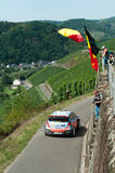 WRC Germany 2015 - Thierry Neuville & fans. Thierry Neuville passing some Belgian fans during WRC Germany 2015 Stock Photography