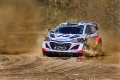WRC Hyundai Mud Splash Royalty Free Stock Photos