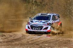 WRC Hyundai Mud Splash Royalty Free Stock Photos