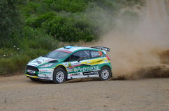 WRC Italia Sardegna. A car of wrc in sardinia stock photos