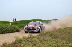 WRC Italia Sardegna. A car of wrc in sardinia, Sinis royalty free stock photos