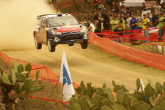 WRC Korona-Sammlung Mexiko Sébastien 2010 OGIER lizenzfreie stockfotografie