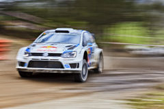 WRC Polo Front Panning stock photography