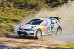 WRC Polo Side Water Splash Stock Photography