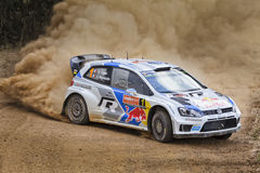 WRC Polo Turn Ground Close Stock Image