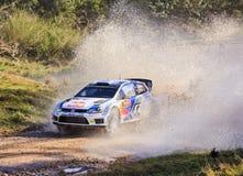 WRC Polo Water Drops Cloud Fotos de archivo