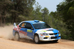 WRC Rally Acropolis Royalty Free Stock Photography