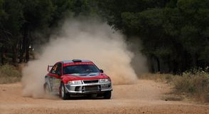 WRC Rally Acropolis Stock Photo