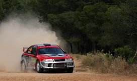 WRC Rally Acropolis Stock Photography