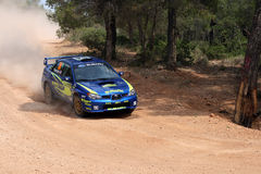 WRC Rally Acropolis race car Stock Image