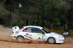 WRC Rally Acropolis race car stock images