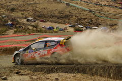 WRC Rally Guanajuato Mexico 2013 royalty free stock photography