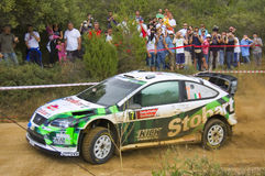 WRC SS17 Liscia Ruja Italia Sardinia Royalty Free Stock Photo
