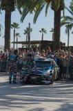 WRC-Weltsammlungs-Meisterschafts-Auto in Salou, Spanien Lizenzfreie Stockfotos