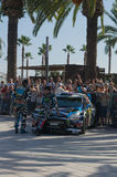 WRC World Rally Championship Car in Salou , Spain Royalty Free Stock Photos