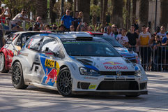 WRC World Rally Championship Car in Salou , Spain Stock Images