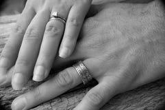 wręcza małżeństwo Obraz Stock