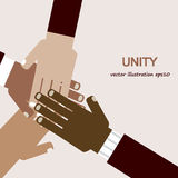 Wręcza różnorodną jedność Obraz Royalty Free
