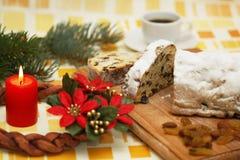 Wreat de déjeuner et d'arrivée de Noël Images libres de droits