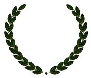 Wreath. Bay leaf wreath on white Royalty Free Stock Images