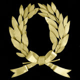 Wreath. Golden wreath royalty free stock image