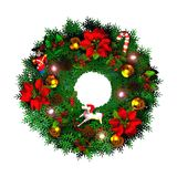 Wreath. Computer-generated 3D illustration depicting  a Christmas wreath Royalty Free Stock Image