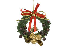Wreath. Green wreath isolated on white stock image