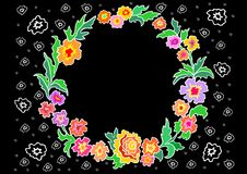 Wreath from abstract flowers Royalty Free Stock Images