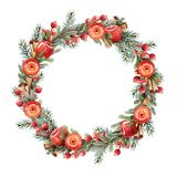 Wreath with apples Stock Image