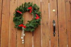 Wreath auf Holz Stockbilder