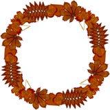 Wreath of autumn leaves. Vector. vector illustration