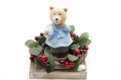 Wreath with bear Royalty Free Stock Photos